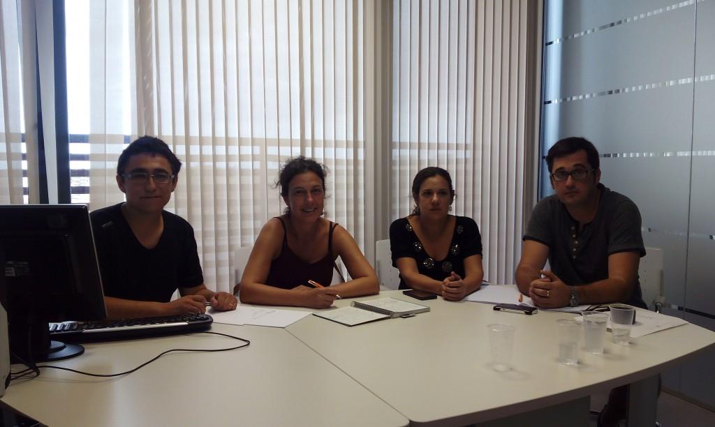 De dreta a esquerra regidors de Compromís:  Sergi Alejo (Xilxes), Carmen San Onofre(Almenara),  Mónica Álvaro(diputada per Castelló) i Raül Borràs, regidor de Compromís per Moncofa.
